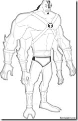 4_brazos_UA_para_colorear Desenhos para colorir Ben 10 Supremacia Alienígena