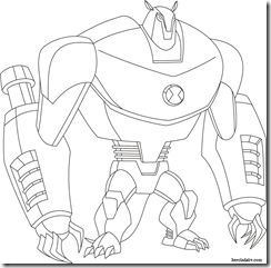 Armodrillo Desenhos para colorir Ben 10 Supremacia Alienígena