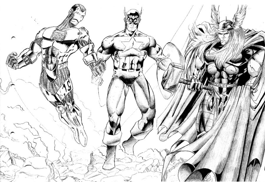 falcon avengers coloring pages - photo#18