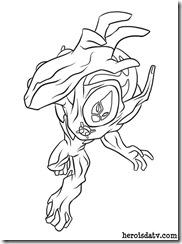 Fogo Selvagem Supremo Desenhos para colorir Ben 10 Supremacia Alienígena