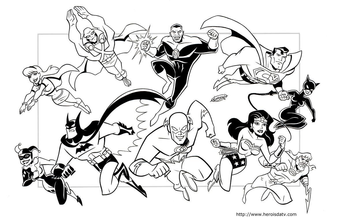 Desenhos Pra Colorir Da Liga Da Justiça