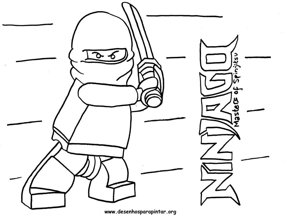 Lego NinjaGo – Desenhos para imprimir pintar e colorir » Desenhos ...