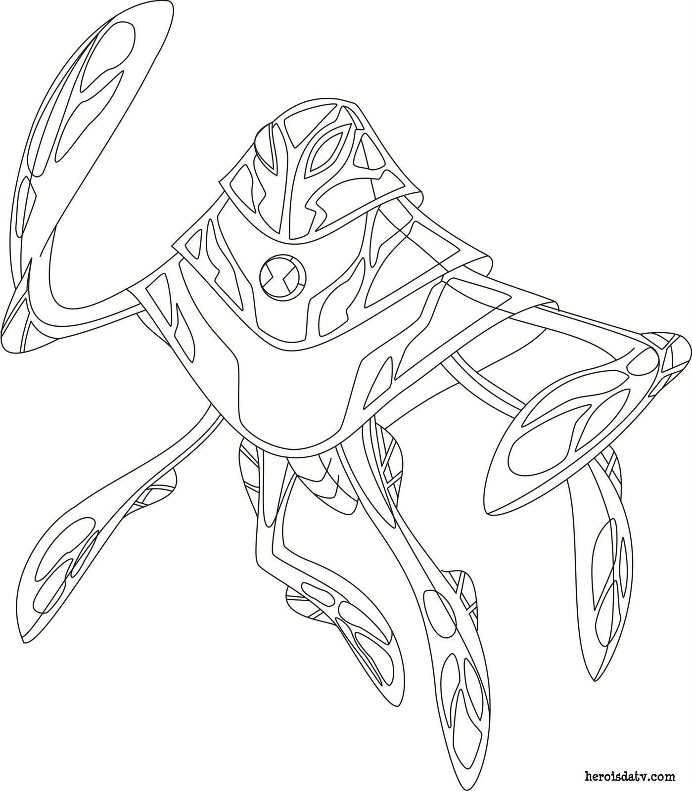 desenhos para colorir ben 10 supremacia alien u00edgena