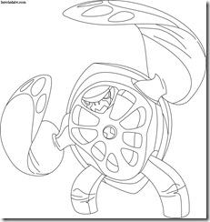 Terraspin Desenhos para colorir Ben 10 Supremacia Alienígena