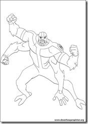 Ben 10 - Desenhos para colorir e pintar quatro braços four arms