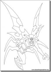 Ben 10 - Desenhos para colorir e pintar insectoide stinkfly
