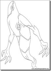 Ben 10 - Desenhos para colorir e pintar fantasmatico ghostfreak