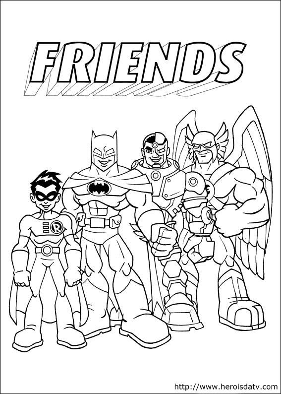 Nightwing Super Hero Coloring Pages