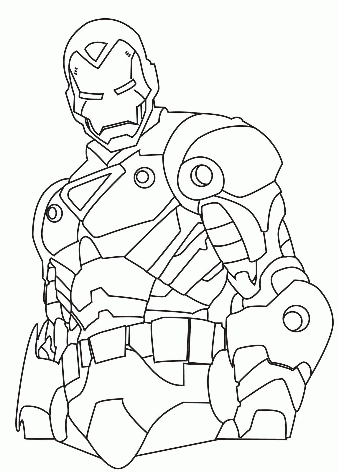 Os vingadores desenhos para colorir pintar e imprimir for Ironman printable coloring pages