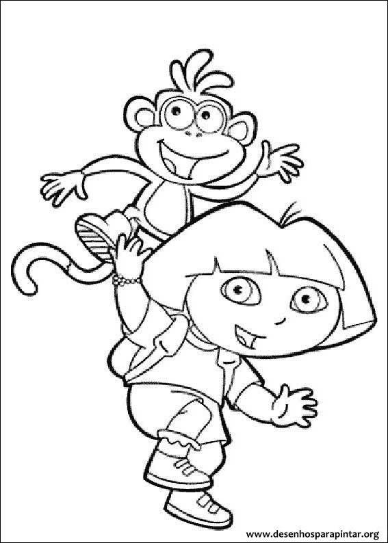 dora a aventureira desenhos para colorir pintar e imprimir da