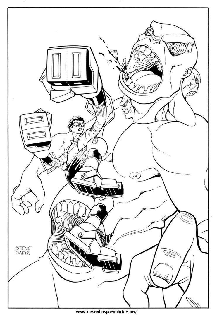mutante rex desenhos para colorir imprimir e pintar