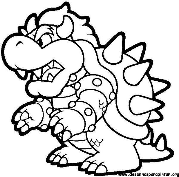 Super Mario Bros, desenhos para imprimir colorir e pintar do Mario ...