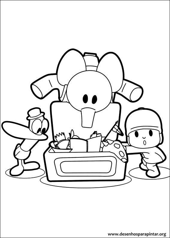 Pocoyo e sua Turma desenhos para colorir imprimir e