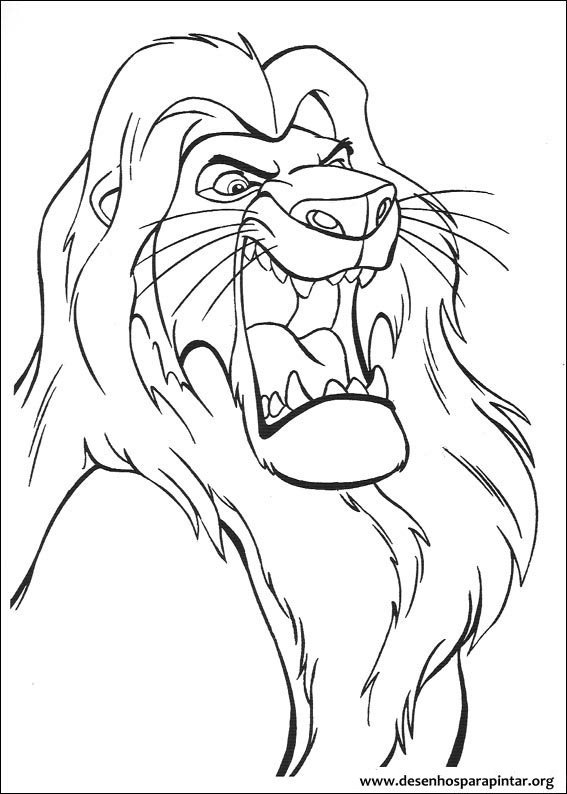 o rei leão desenhos para imprimir colorir e pintar do simba pumba