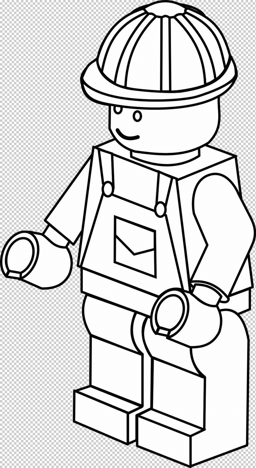 Lego City desenhos para pintar