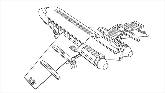 lego plane coloring pages - photo#16