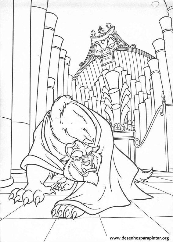 a princesa bela e a fera  u2013 desenhos para imprimir colorir