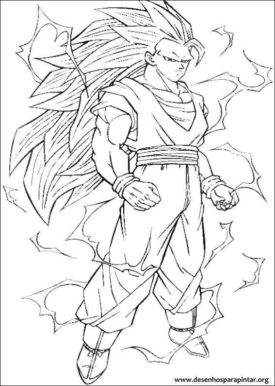 Dragon Ball Z desenhos para imprimir colorir e pintar do Goku, Goham ...
