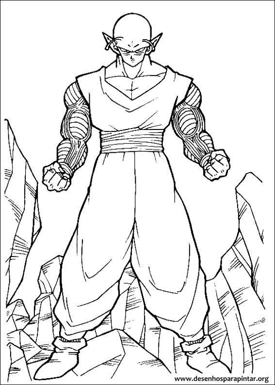 Dragon ball z desenhos para imprimir colorir e pintar do for Dbz color pages