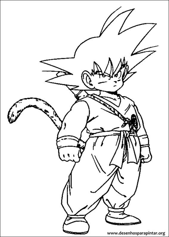 Dragon ball z desenhos para imprimir colorir e pintar do - Coloriage sangohan ...