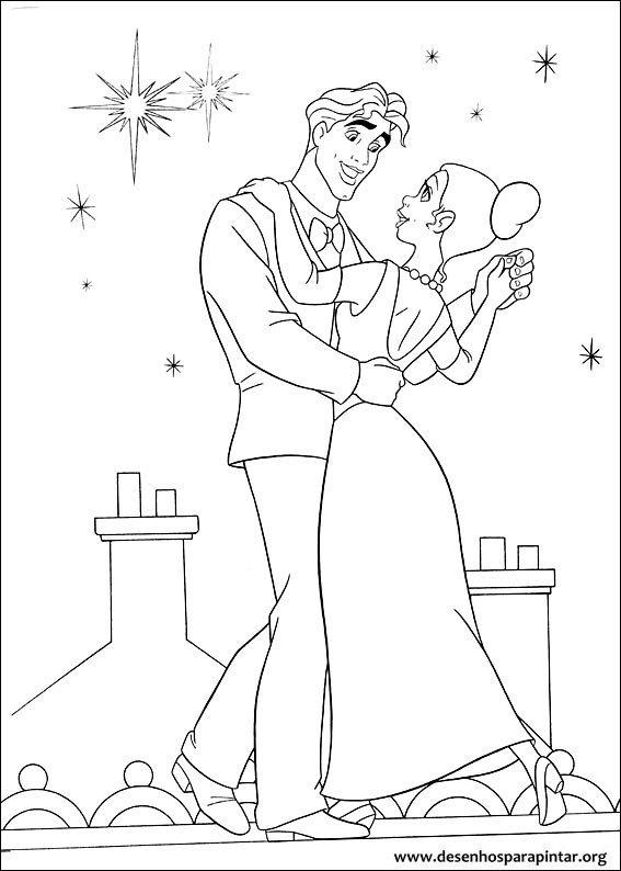 Tiana a Princesa e o Sapo desenhos