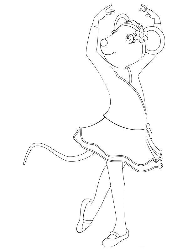 angelina ballerina desenhos para imprimir colorir e pintar da