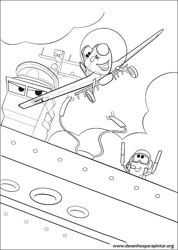 Avi es da disney pixar desenhos para colorir imprimir e - Dessin porte avion ...