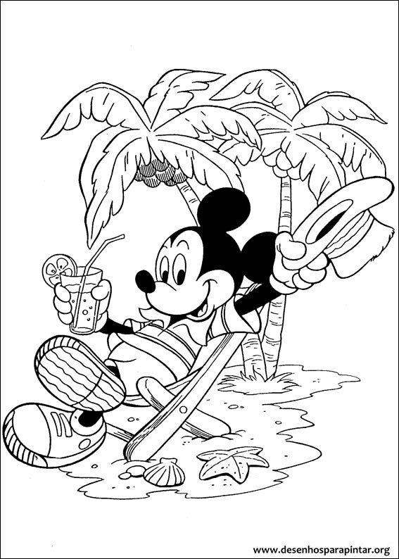 mickey mouse e pluto desenhos para imprimir colorir e pintar