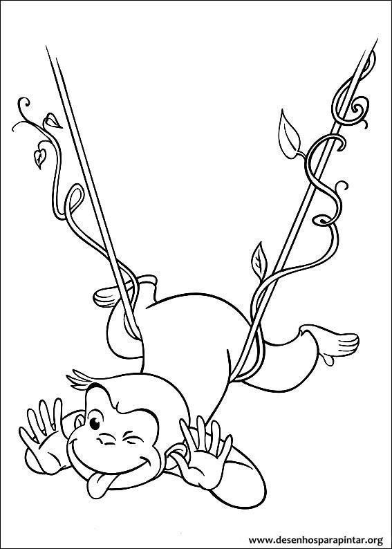 George o Curioso desenhos para imprimir pintar e colorir » Desenhos ...