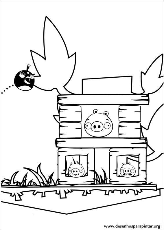 Angry bird bad piggies coloring pages ~ Angry Birds e Bad Piggies – 36 novos desenhos para ...