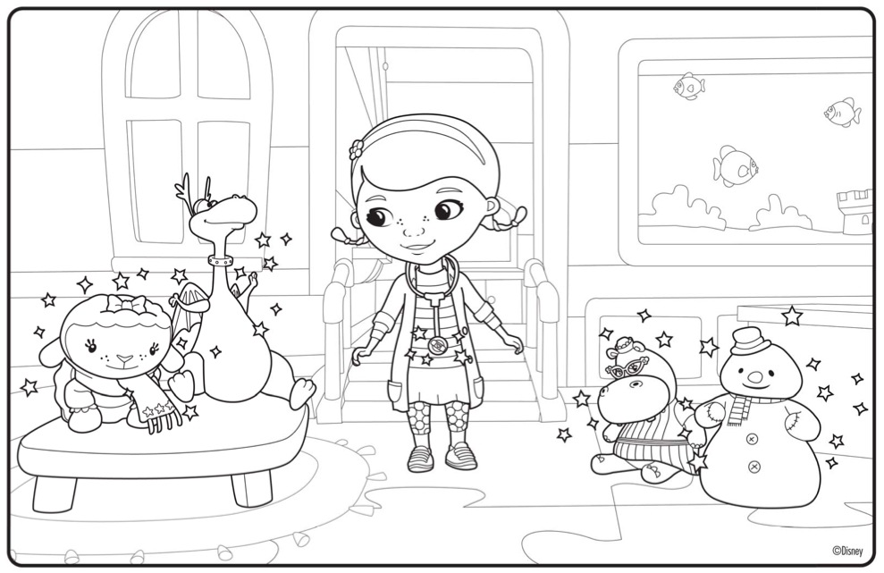 Doc Mcstuffins Christmas Coloring Pages - Eskayalitim