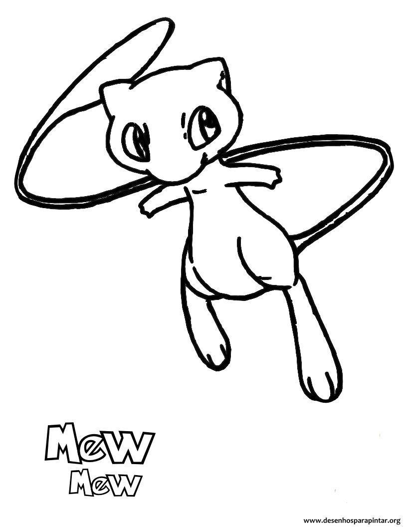 Desenhos Pokemon para imprimir, colorir e pintar – nova lista com ...