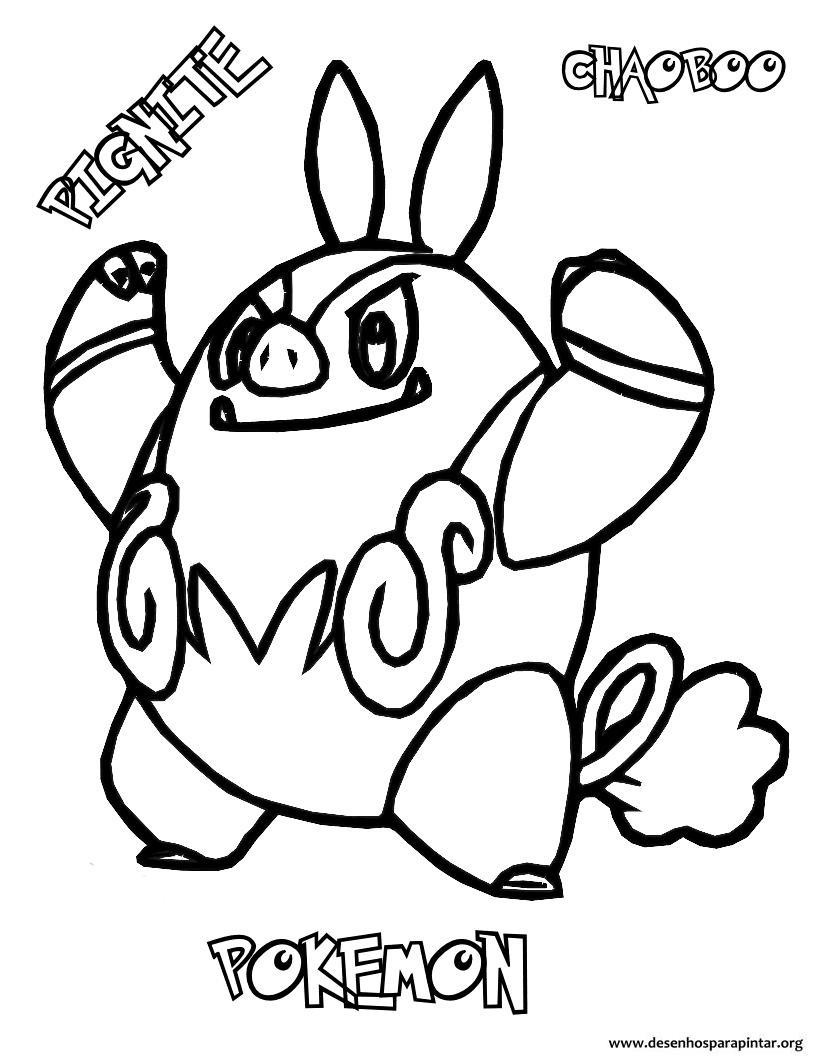 coloring pages pokemon tepig coloring - photo#13