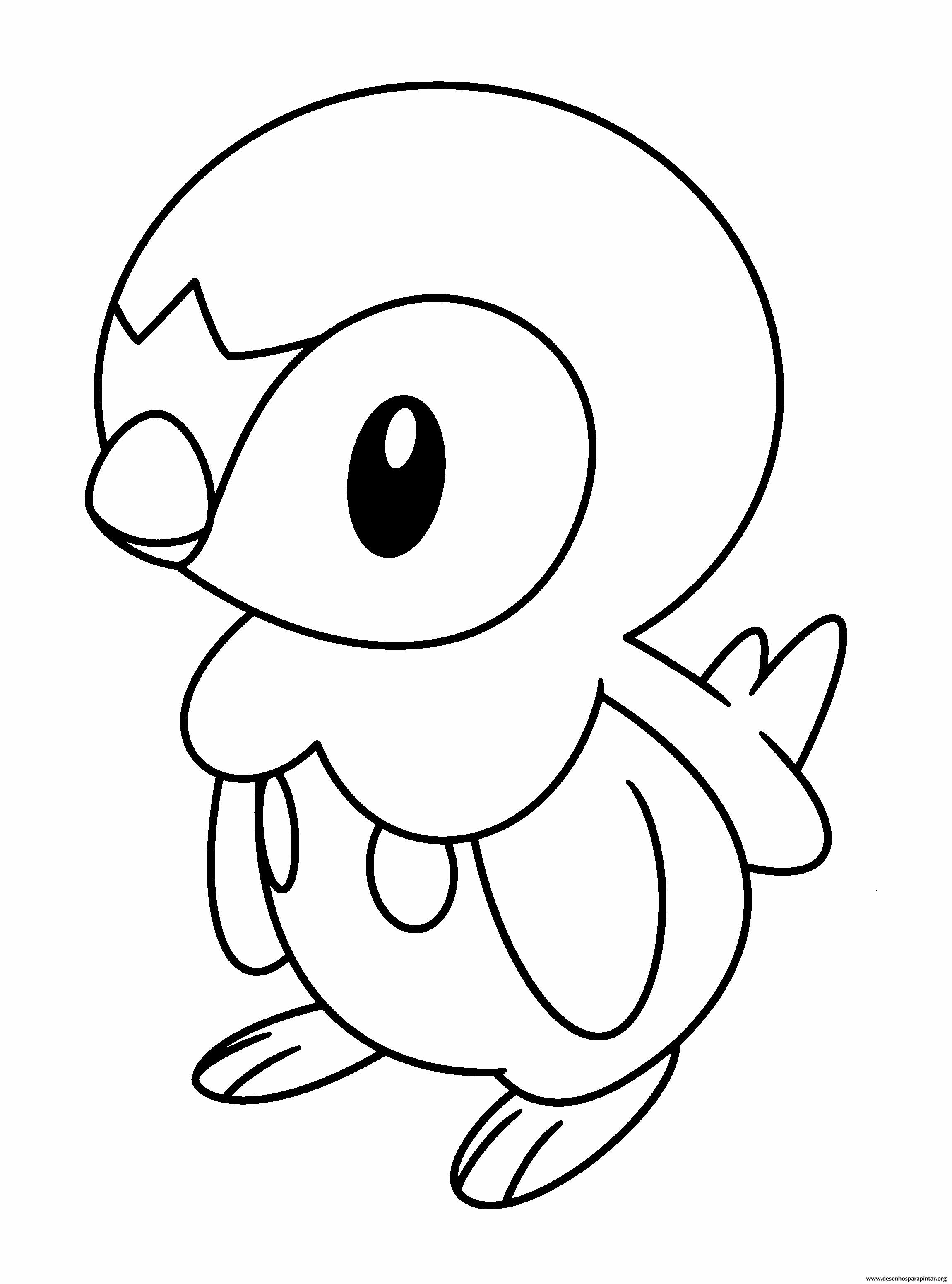 Desenhos pokemon para imprimir colorir e pintar nova for Piplup coloring pages