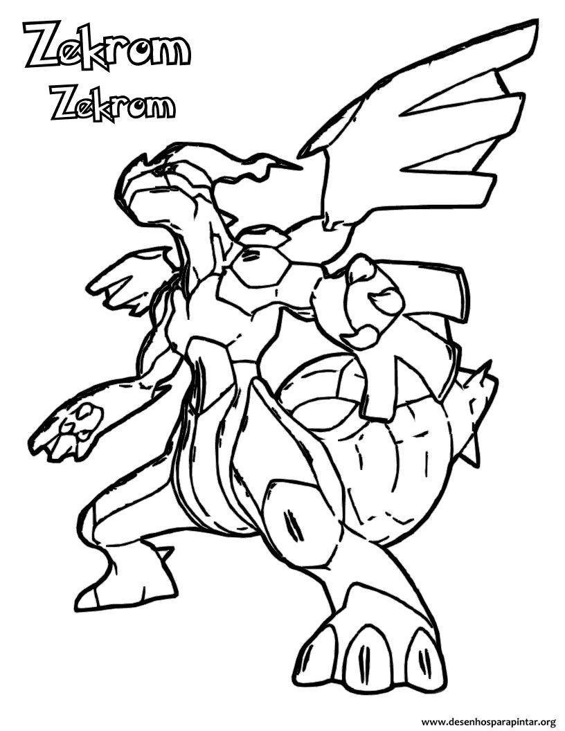zekrom ex coloring pages | Pokemon Zekrom Coloring Pages To Print Out Coloring Pages
