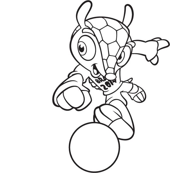 fuleco o mascote da copa do mundo brasil 2014 desenhos para