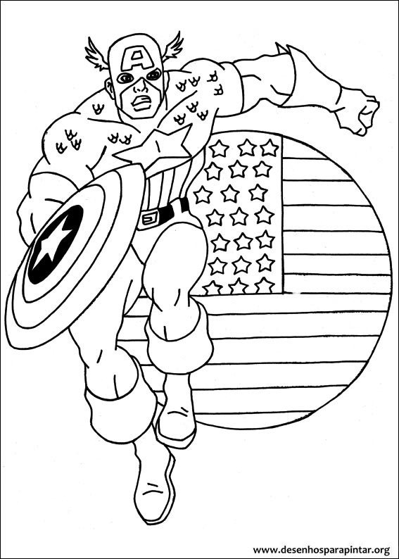 capitão américa desenhos para imprimir colorir e pintar desenhos