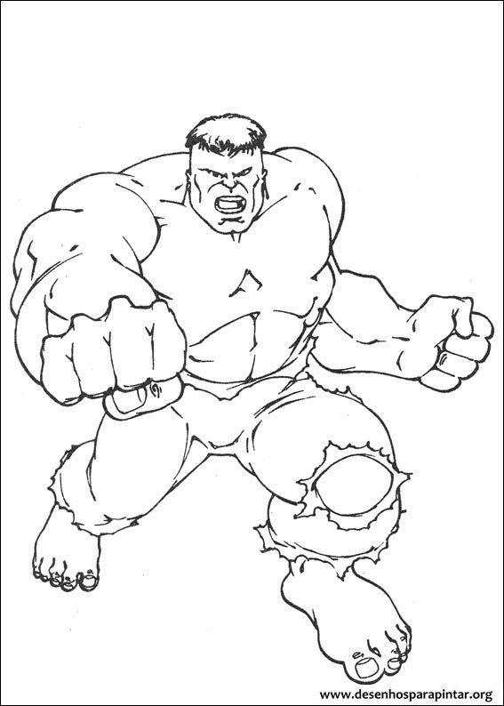 Hulk desenhos para imprimir pintar e colorir do super ...