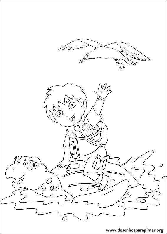 GO Diego Go desenhos para imprimir colorir e pintar do