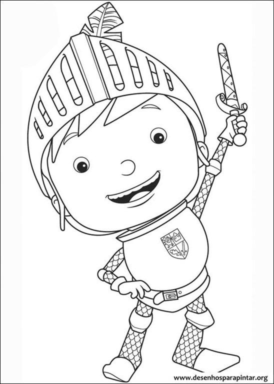 Mike o cavaleiro desenhos para imprimir colorir e pintar for Knight coloring page