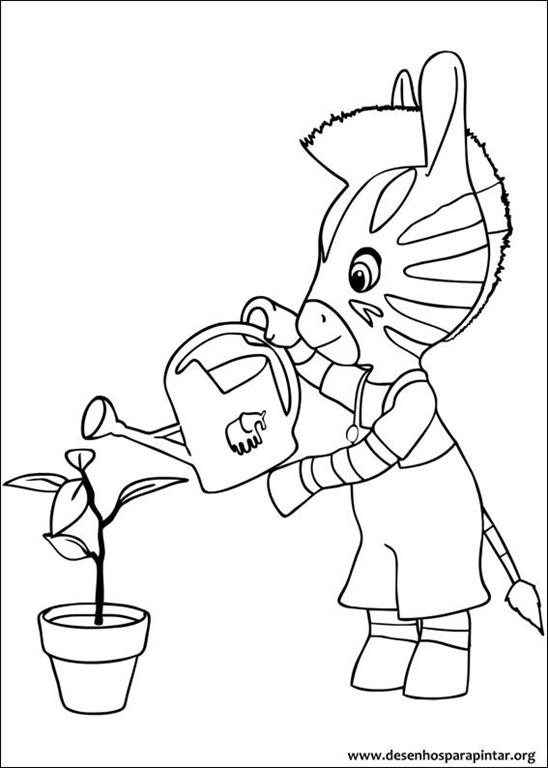 zou a zebra da disney desenhos para imprimir colorir e pintar