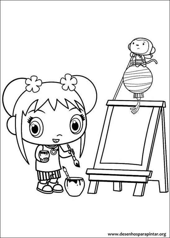 Ni Hao Kai Lan desenhos para imprimir colorir e pintar deste ...