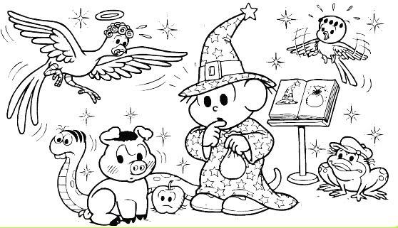 Turma Da Mônica E O Dia Das Bruxas Halloween, Desenhos