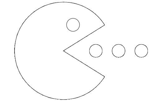 Pac-Man desenhos para colorir imprimir e pintar do come come ...