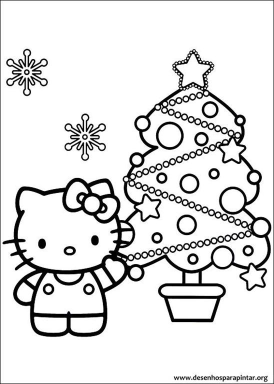 hello kitty de natal desenhos para imprimir colorir e. Black Bedroom Furniture Sets. Home Design Ideas