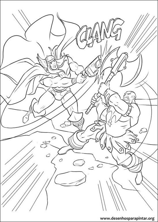Thor O Filho De Odin Desenhos Para Imprimir Colorir E