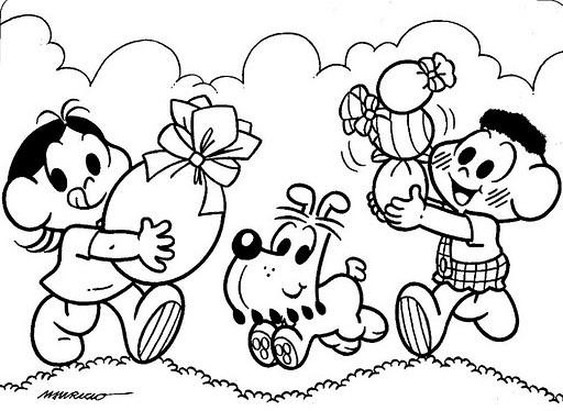Desenhos De Páscoa Da Turma Da Monica Para Imprimir