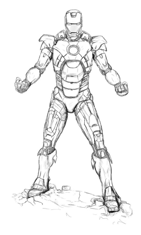 Iron Man Mark  Coloring Pages #5