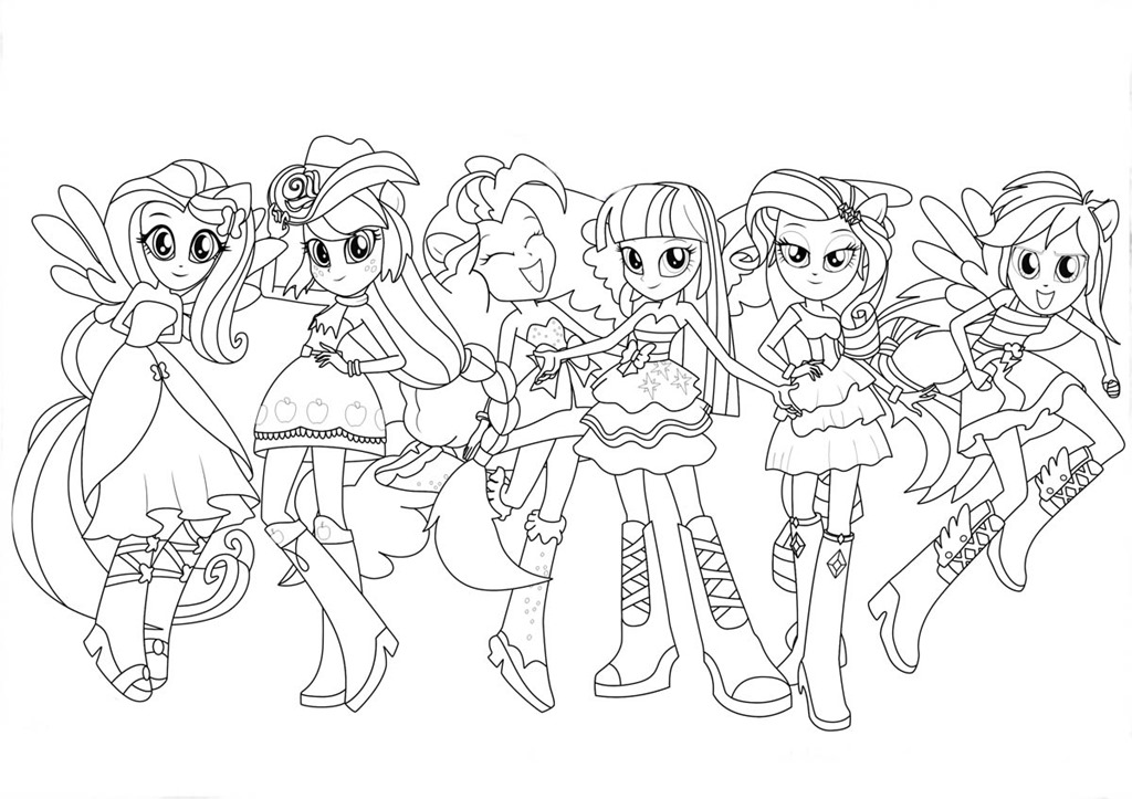 Discovery kids desenhos para pintar e colorir for My little pony equestria girls rainbow rocks coloring pages