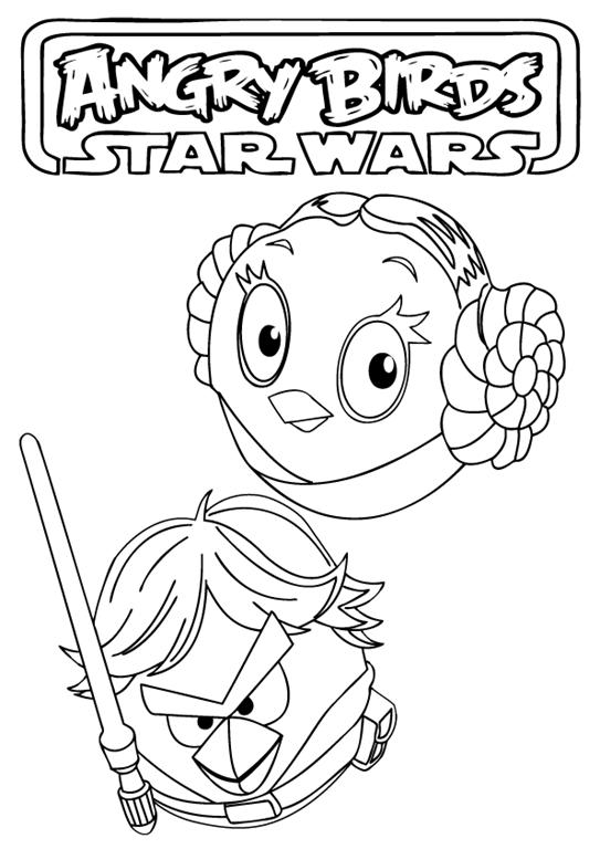 Angry Birds Star Wars desenhos para imprimir colorir e pintar ...